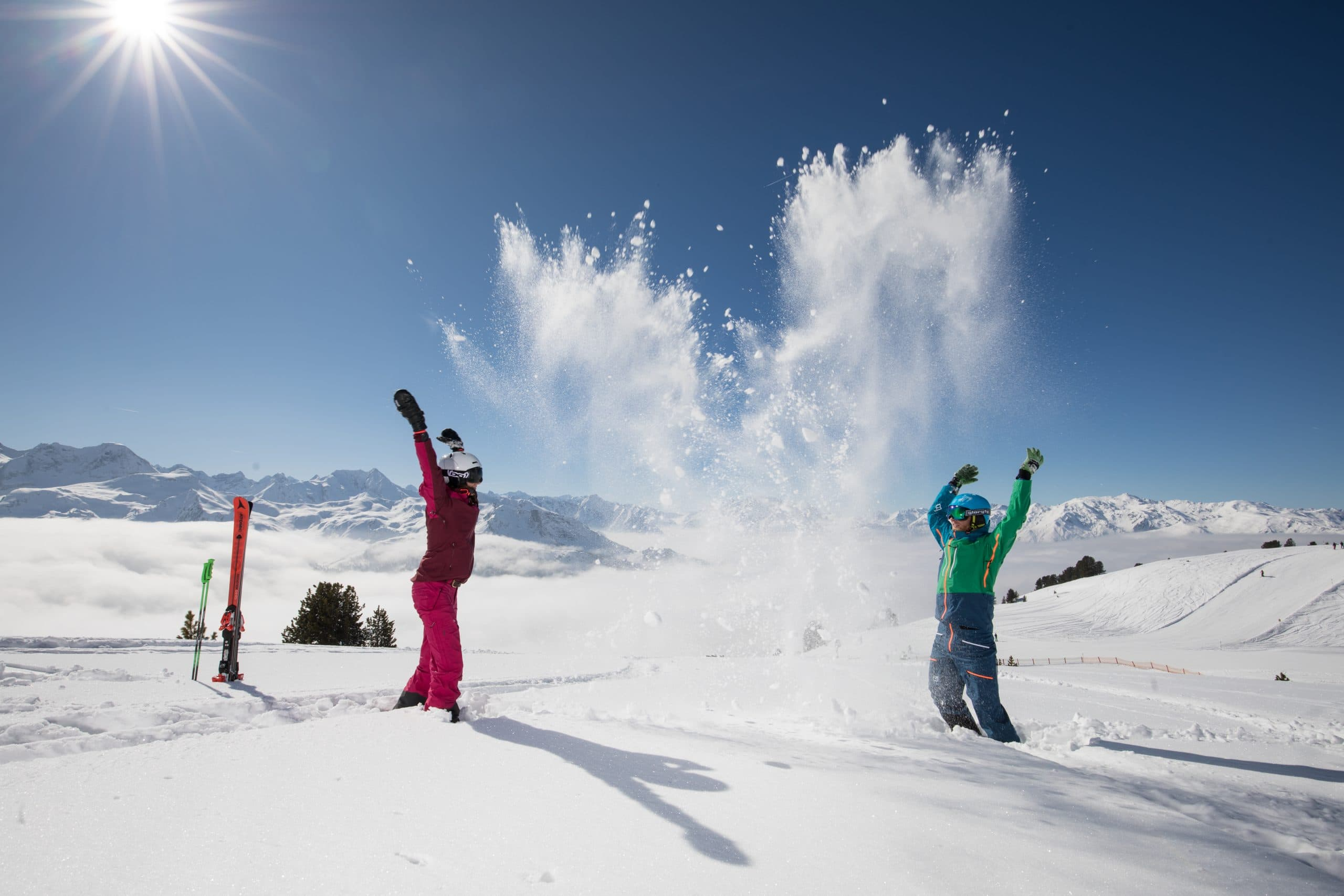 winter ski paar schnee3 scaled